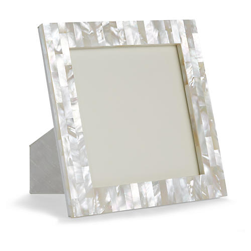 Mother-of-Pearl Square Picture Frame, Natural