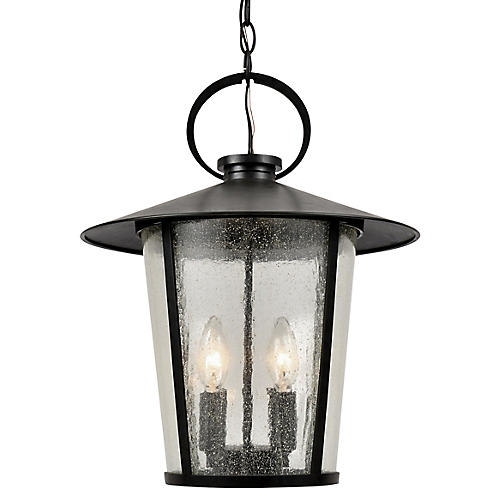 Andover 4-Light Outdoor Chandelier, Matte Black