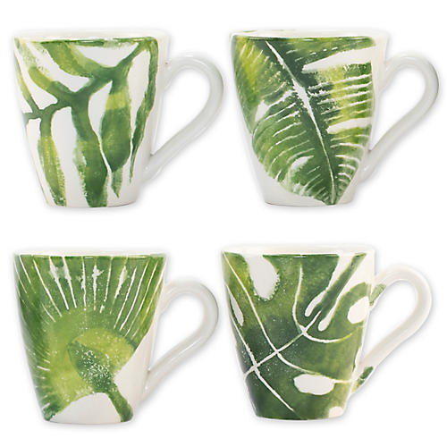 Asst. of 4 Into The Jungle Mugs, White