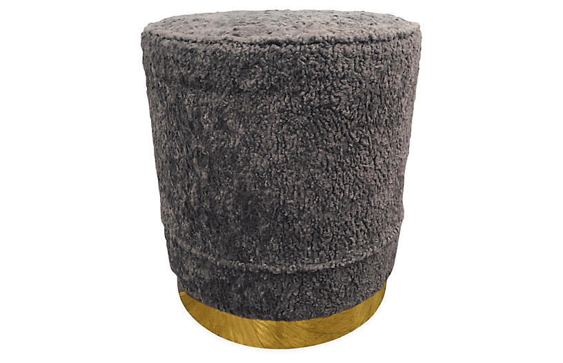 Piper Stool, Gray Sherpa