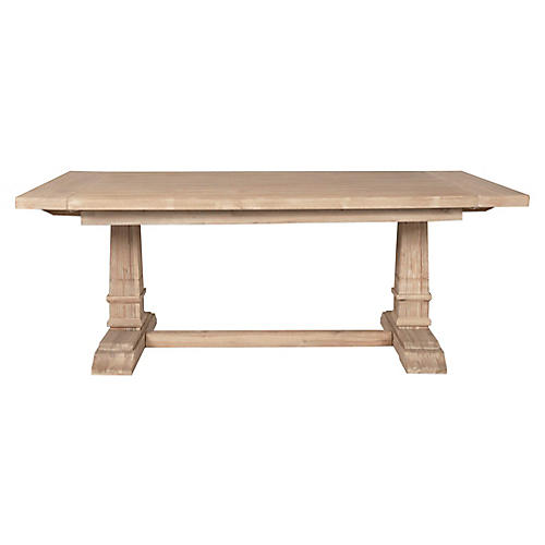 Campbell Extension Dining Table, Stonewash