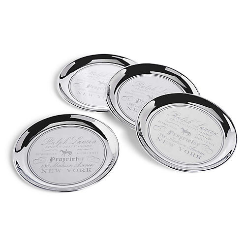 S/4 Cantwell Coasters, Silver