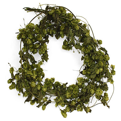 "26"" Hops & Basil Wreath, Dried"