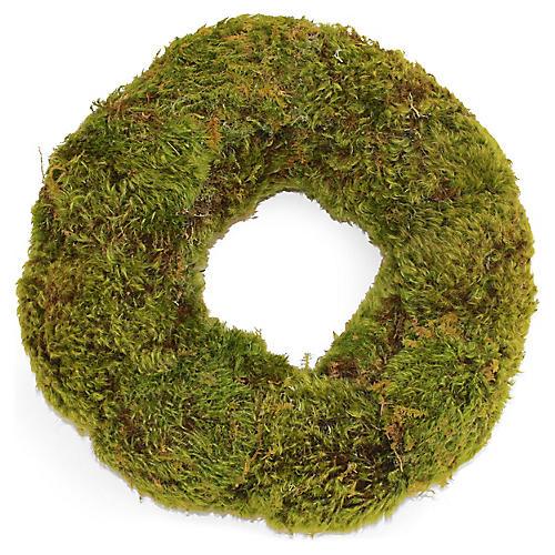 "14"" Mood Moss Wreath, Dried"