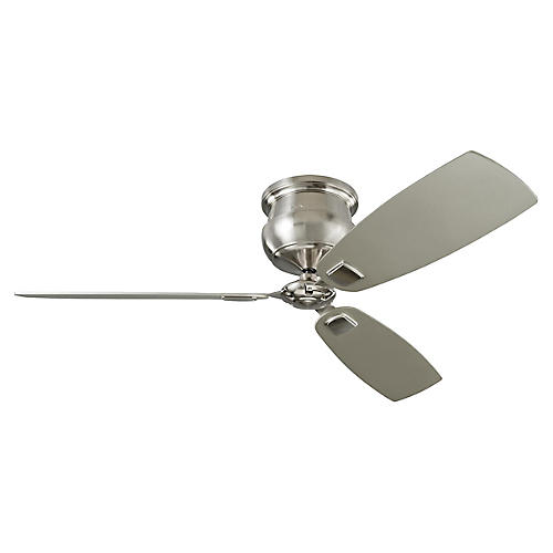 Cannondale Ceiling Fan, Brushed Steel