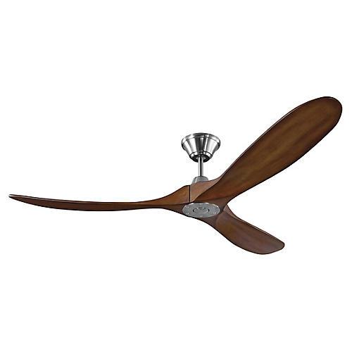 Maverick Ceiling Fan, Koa/Steel