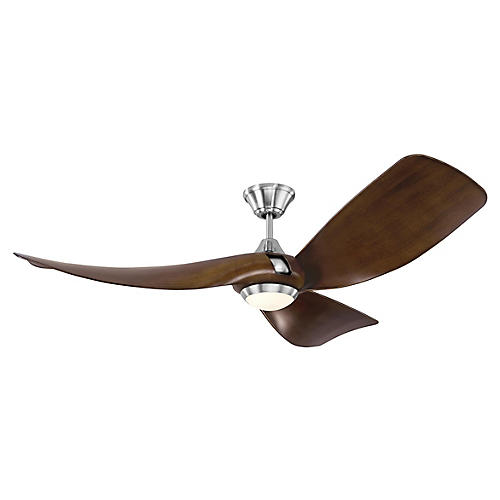 Melody Ceiling Fan, Dark Walnut/Steel