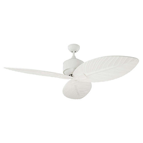 Delray Ceiling Fan, Matte White