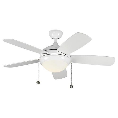 Discus Classic II Ceiling Fan, White