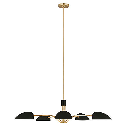 Jane 5-Light Chandelier, Midnight Black