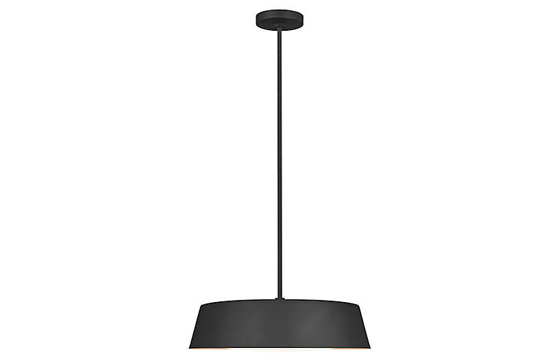Asher 5-Light Pendant, Midnight Black