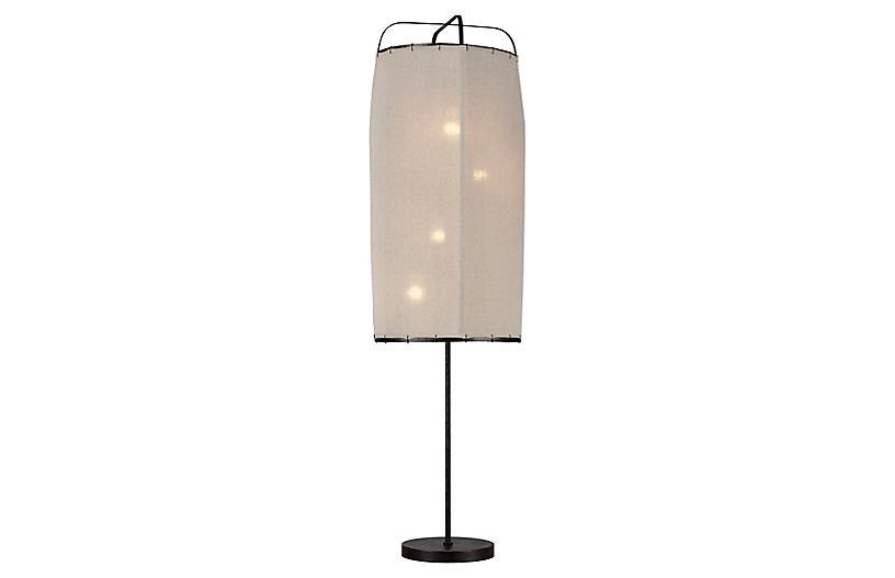 Dunne Floor Lamp, Aged Iron