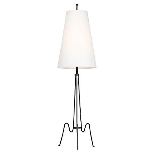 Mable Floor Lamp, Aged Iron