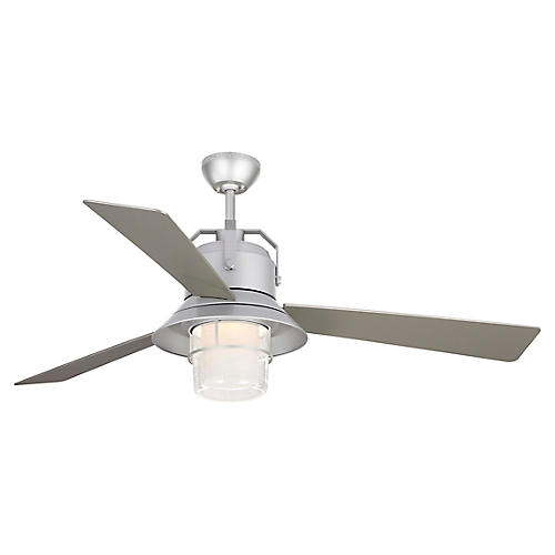 Boynton Ceiling Fan, Painted Brushed Steel
