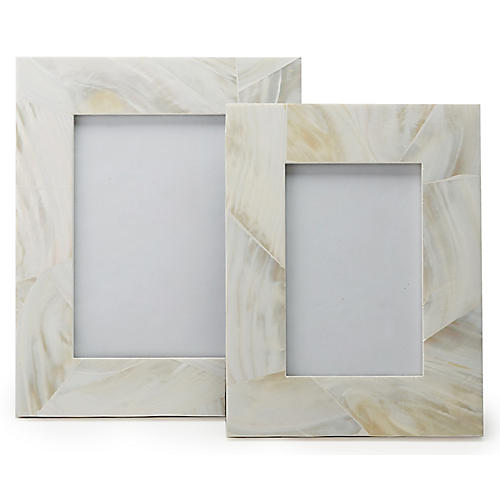 Asst. of 2 Camille Picture Frames, Cream