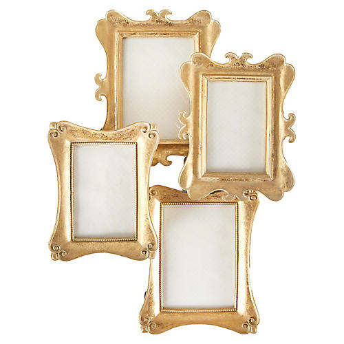 Asst. of 4 Brooker Picture Frames, Gold Leaf