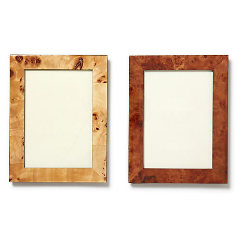 Asst. of 2 Northport Picture Frames, Brown Grain