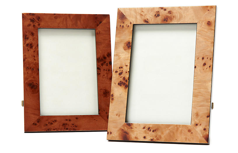 Asst. of 2 Leland Picture Frames, Brown Grain