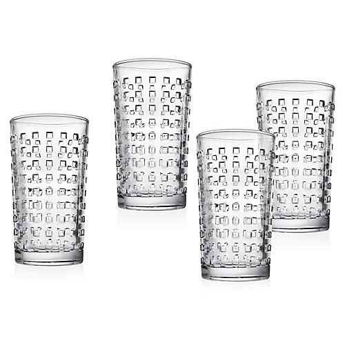 S/4 West Street Highball Glasses, Clear
