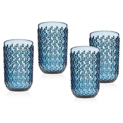 S/4 Alba Highball Glasses, Blue