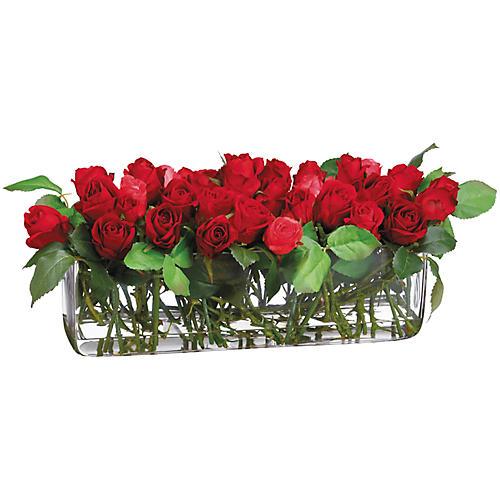 """22"""" Rose & Thorn Arrangement, Faux"""