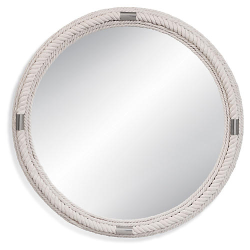 Largo Rope Wall Mirror, White