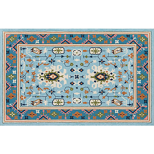 Mist Outdoor Rug, Blue