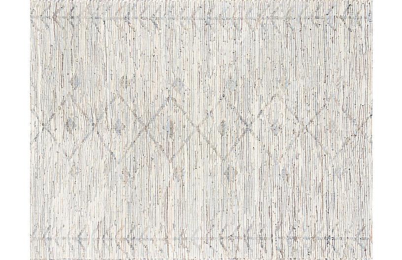 Tézah Yefri Handwoven Rug, Grey