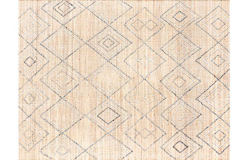 Argan Oshipi Handwoven Rug, Natural