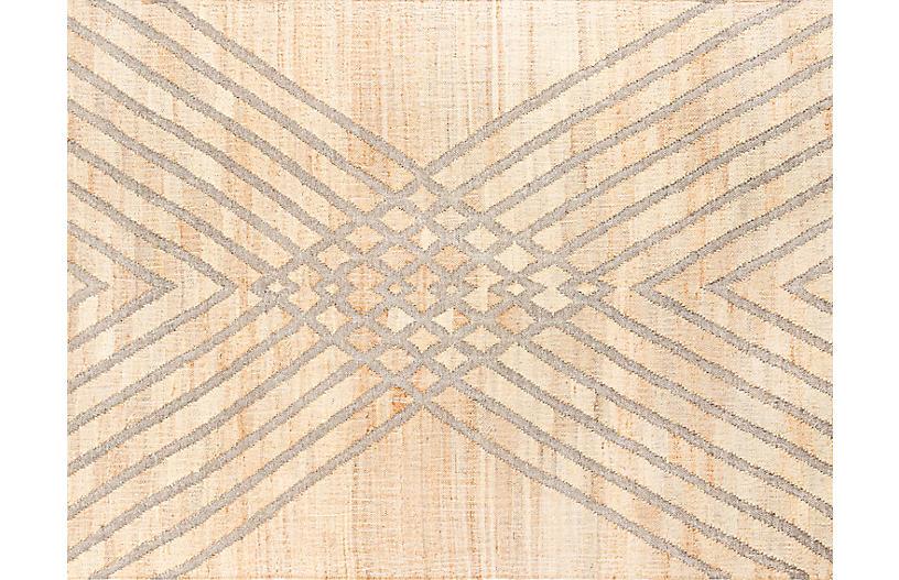 Gurara Tibesti Handwoven Rug, Natural