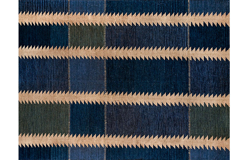 Duar Atar Handwoven Rug, Indigo