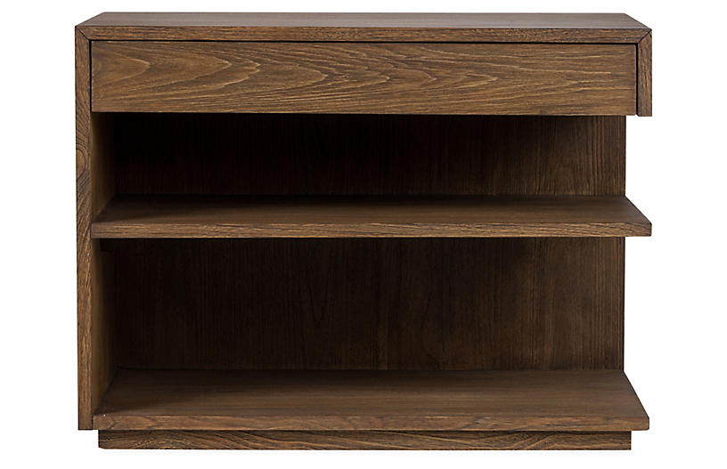 Laguna Right-Facing Nightstand, Mesa Brown