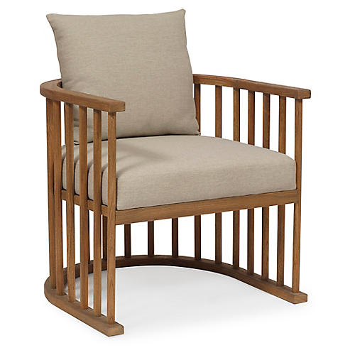 Valencia Accent Chair, Praline/Taupe