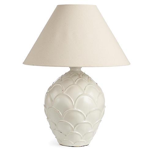 Hayden Table Lamp, White/Cream