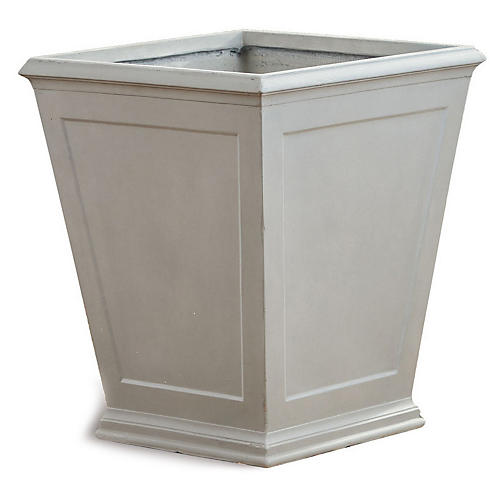 Xavier Outdoor Planter, Light Gray