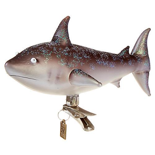 Shining Shark Ornament Clip, Gray