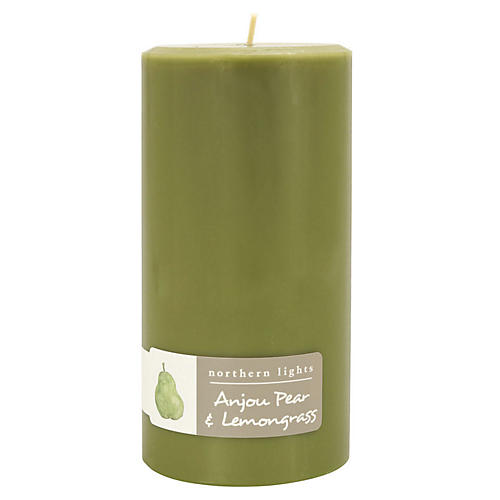 Palette Tall Pillar Candle, Pear & Lemongrass