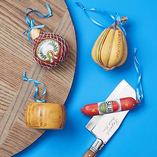 Asst. of 4 Italian Deli Ornaments, Rare Red/Multi