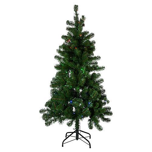 Twinkly LED-Lit Faux Pine Tree, Green