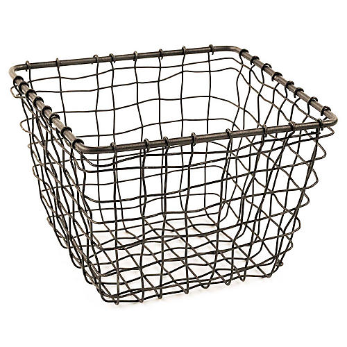 "7"" Bosworth Small Storage Basket, Gray"