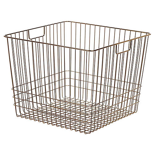 "14"" Solano Giant Storage Basket, Copper"