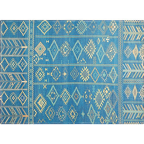 Reed Kids' Rug, Denim