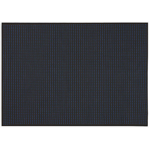 Seattle Rug, Black/Cobalt