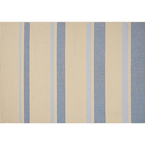 San Diego Rug, Beige/Light Blue