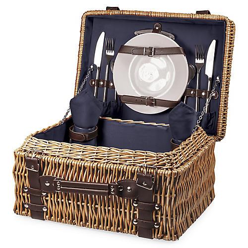 Champion Picnic Basket Set, Navy/Multi