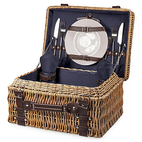 Champion Picnic Basket Set, Navy/Multi