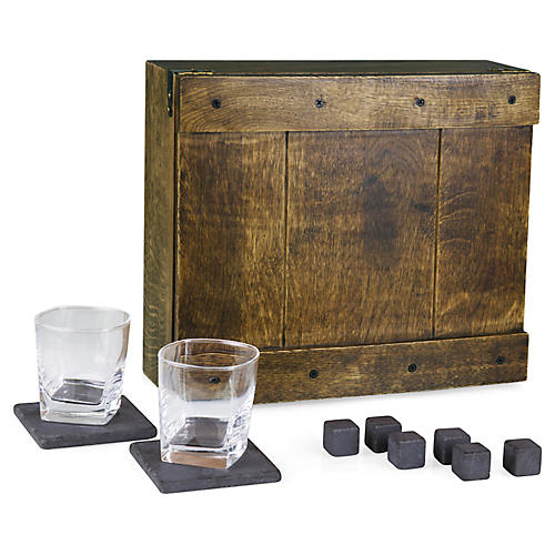 Whiskey Boxed Set, Oak/Multi