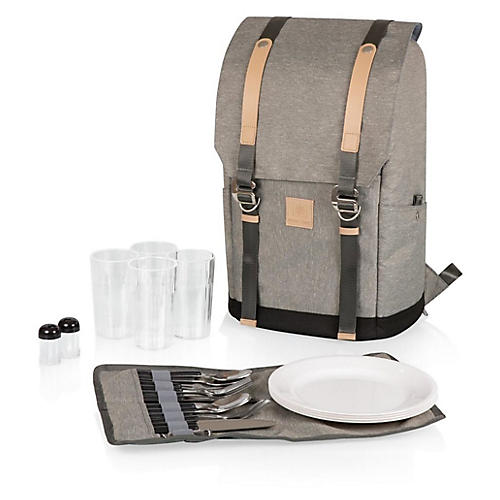 Teton Backpack Cooler Set, Heathered Gray