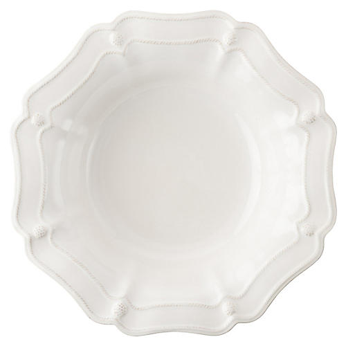Berry & Thread Serving Bowl, White