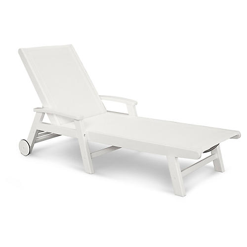Coastal Chaise, White